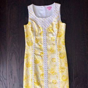 🌞 NWOT Lilly Pulitzer Yellow & White Sun Dress 🌞
